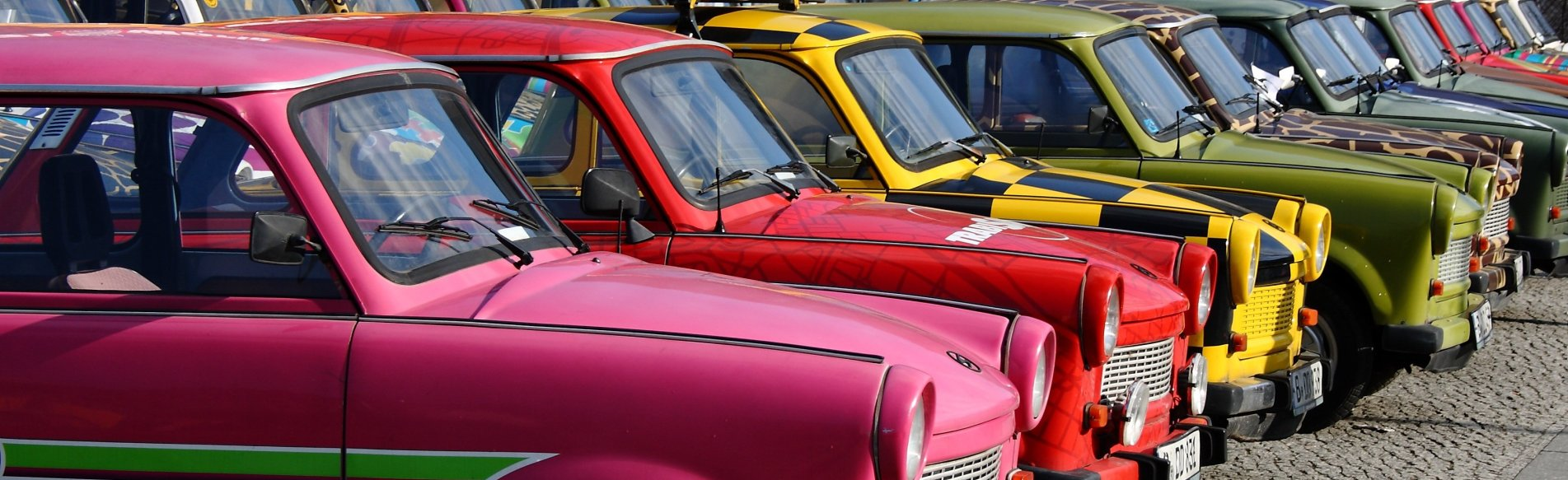 Trabi-Tour durch Berlin in der Gruppe